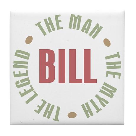 Bill Man Myth Legend Tile Coaster