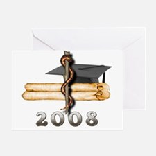 2008 Med Grad Greeting Card