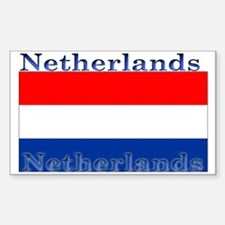 Netherlands Dutch Flag Rectangle Decal