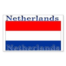 Netherlands Dutch Flag Rectangle Stickers