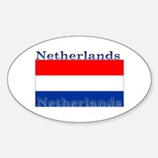 Netherlands Dutch Flag Oval Stickers
