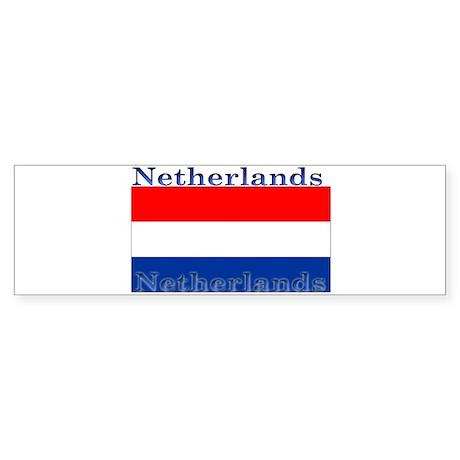 Netherlands Dutch Flag Bumper Sticker