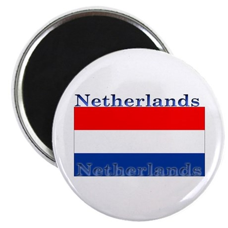 "Netherlands Dutch Flag 2.25"" Magnet (100 pack)"