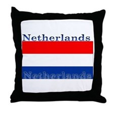 Netherlands Dutch Flag Throw Pillow