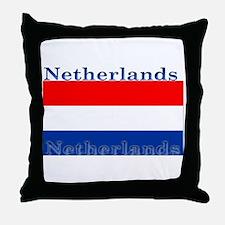 Netherlands Dutch Flag Throw Pillow