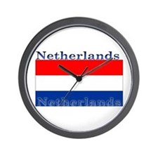 Netherlands Dutch Flag Wall Clock