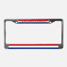 Netherlands Dutch Flag License Plate Frame