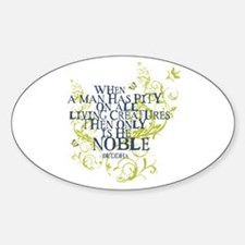 Buddha Vine - Noble Text - Blue Green Decal