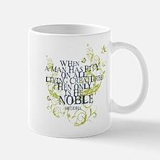 Buddha Vine - Noble Text - Blue Green Mug