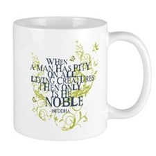 Buddha Vine - Noble Text - Blue Green Mug