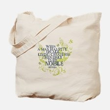Buddha Vine - Noble Text - Blue Green Tote Bag