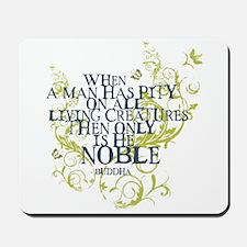 Buddha Vine - Noble Text - Blue Green Mousepad