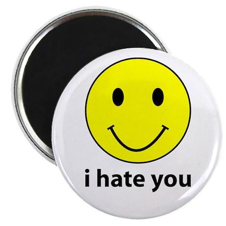 "i hate you 2.25"" Magnet (100 pack)"
