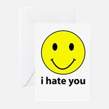 i hate you Greeting Cards (Pk of 10)