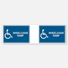 Wheelchair Ramp Notice Bumper Bumper Bumper Sticker