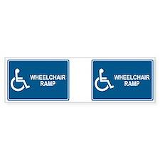 Wheelchair Ramp Notice Bumper Bumper Sticker