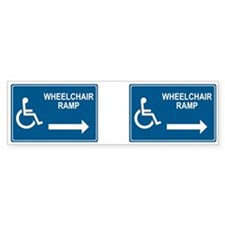 Wheelchair Ramp Notice Bumper Sticker (10 pk)