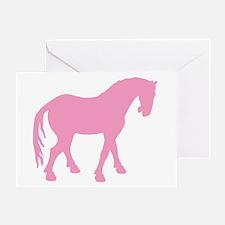 Pink Tang Horse #4 Greeting Card
