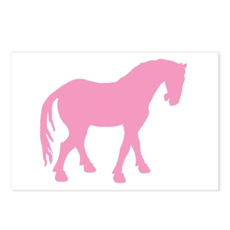 Pink Tang Horse #4 Postcards (Package of 8)