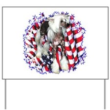 Crested Patriotic Yard Sign