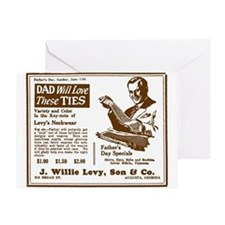 Father's Day Tie Advertisement Greeting Card