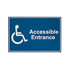 Accessible Entrance Rectangle Magnet