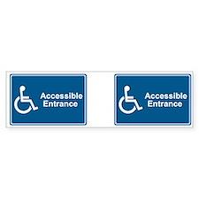 Accessible Entrance Bumper Bumper Bumper Sticker