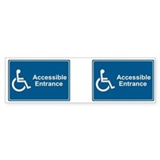 Accessible Entrance Bumper Bumper Sticker