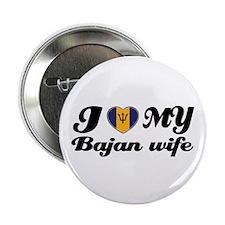 "I love my Bajan Wife 2.25"" Button"