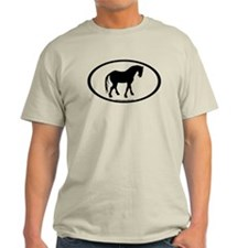 Tang Horse #4 Oval T-Shirt