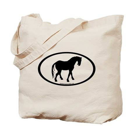 Tang Horse #4 Oval Tote Bag