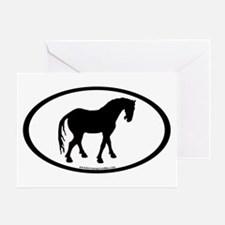 Tang Horse #4 Oval Greeting Card