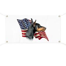 Doberman Flag Banner