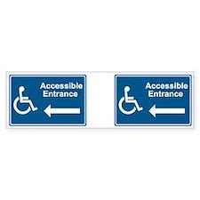 Accessible Entrance Bumper Bumper Sticker