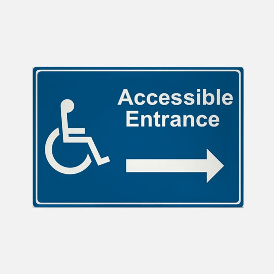 Accessible Entrance Rectangle Magnet