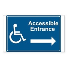 Accessible Entrance Rectangle Stickers