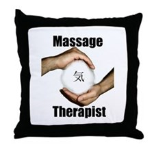 Massage Therapist Energy Throw Pillow