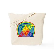 Turtle Triangle Rainbow Tote Bag