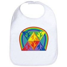 Turtle Triangle Rainbow Bib