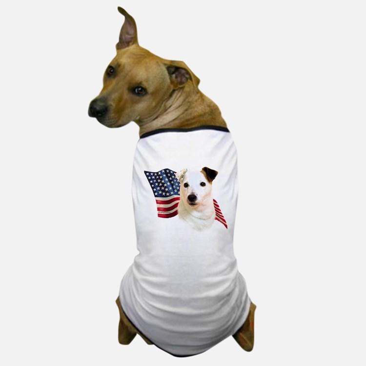 Jack Russell Terrier Flag Dog T-Shirt