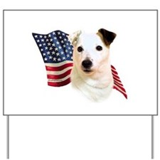 Jack Russell Terrier Flag Yard Sign