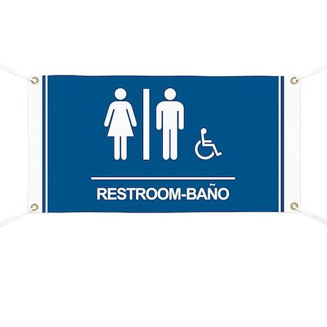 Restroom Bano Servicios Banner