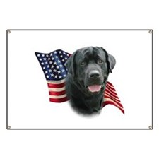 Black Lab Flag Banner