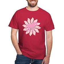 Pink Tang Horse Flower T-Shirt