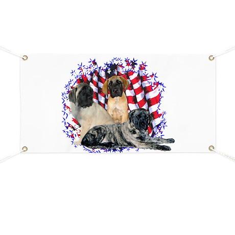 Mastiff(pups) Patriot Banner