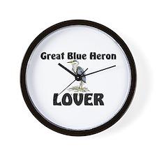 Great Blue Heron Lover Wall Clock