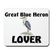 Great Blue Heron Lover Mousepad