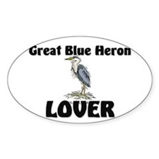Great Blue Heron Lover Oval Decal