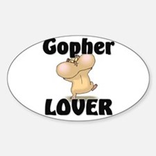Gopher Lover Oval Decal