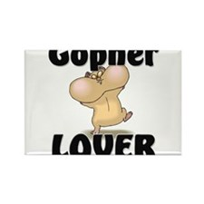 Gopher Lover Rectangle Magnet